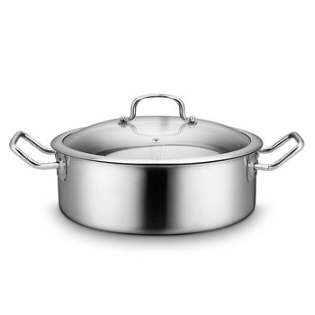 Brushed Stainless Steel Saute Pan