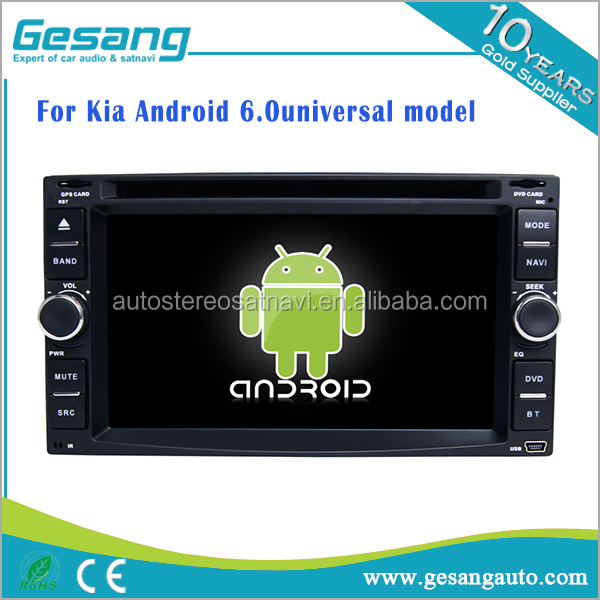 Android 6.0 universal car dvd player for Kia fit for Cerato/ceed/Sportage/Sorento/Spectra/Carens/ X-trek/Rondo7/Optima/Magentis