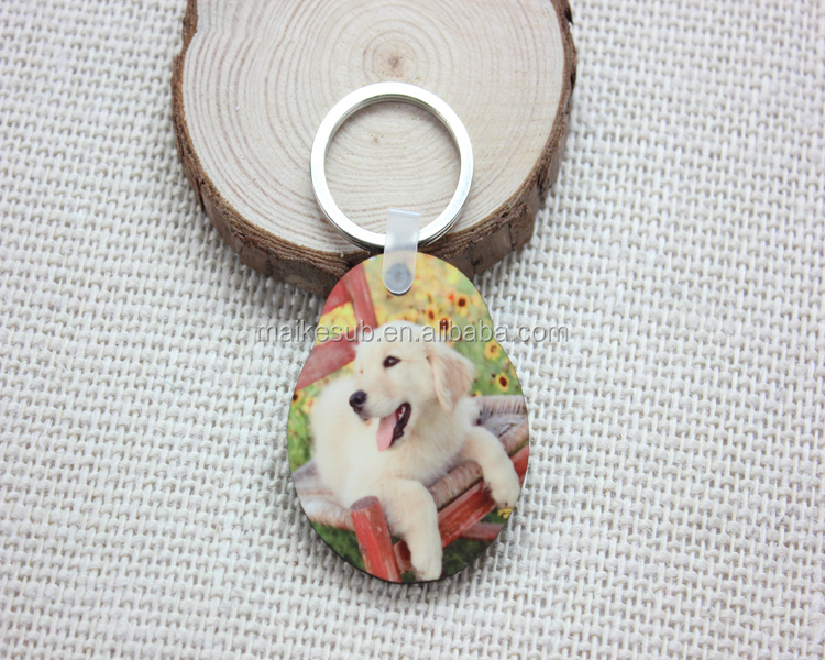 Sublimation wood keychain as promotional gifts
