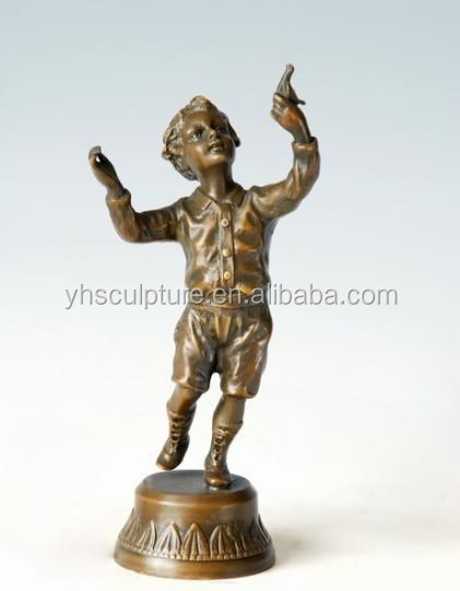 bronze garden statues children