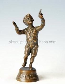 Merveilleux Bronze Garden Statues Children