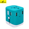 2019 hot selling gifts 4.5A output world multi plug universal UK EU US AU travel 4 USB charger adapter
