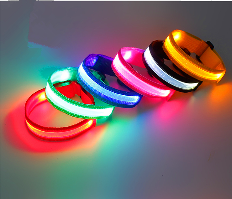 Newest Hot-sale High Visibility Reflective Gear Security Safety Belt Night Running Bangle Band Strap
