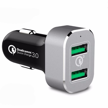 Quick charger 3.0 36w dual output car charger