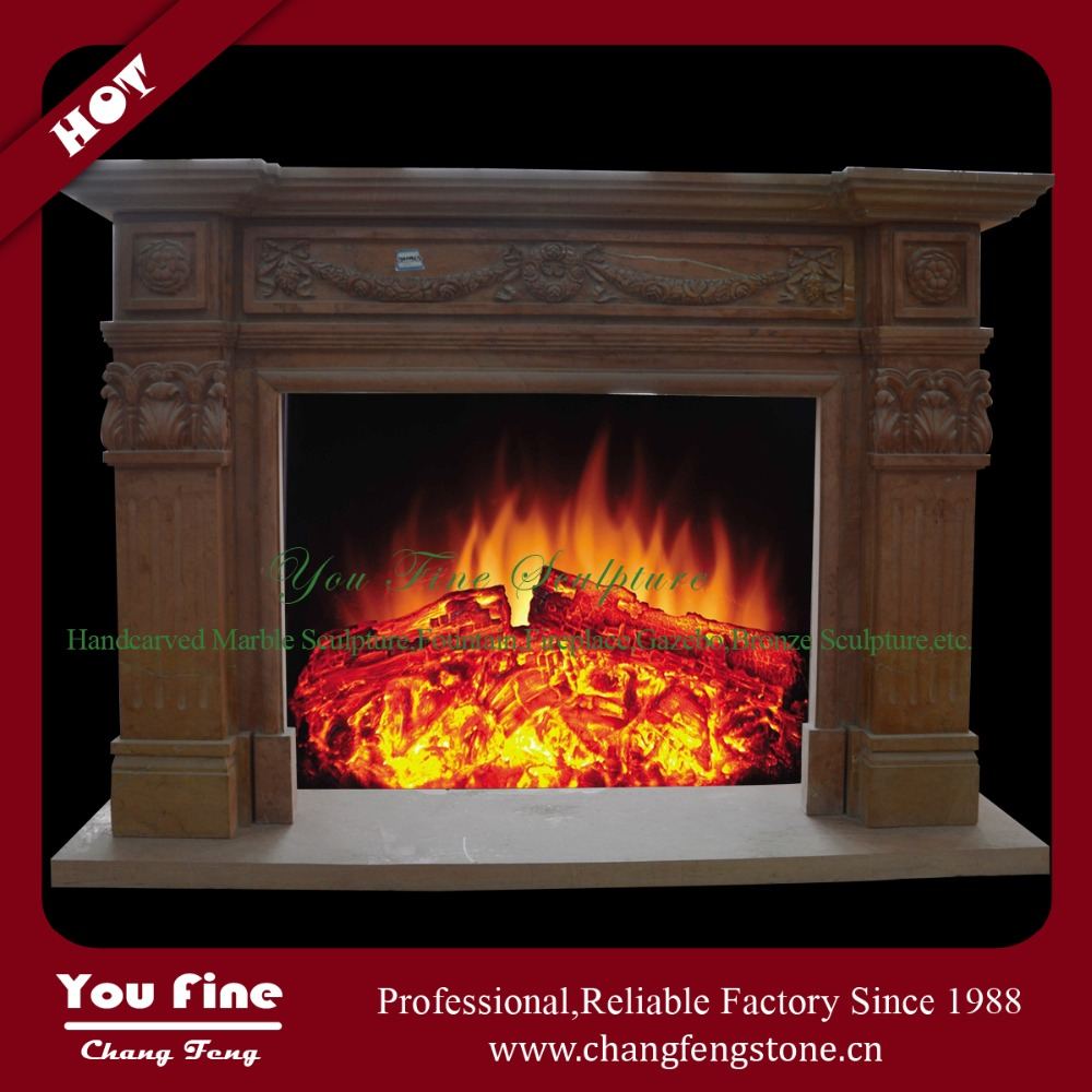 European Style Decorative Marble Fireplace Mantel Parts