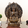 China Factory Life Size Bronze Sitting Thousand Hands Guanyin Statue Copper Buddha Sculpture