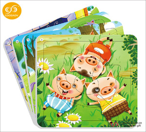 Hot selling Jigsaw cardboard paper puzzle custom kids puzzle game
