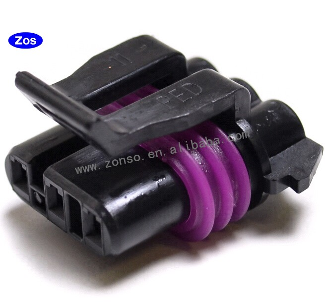 3pin delphi ped automotive female black connector buy