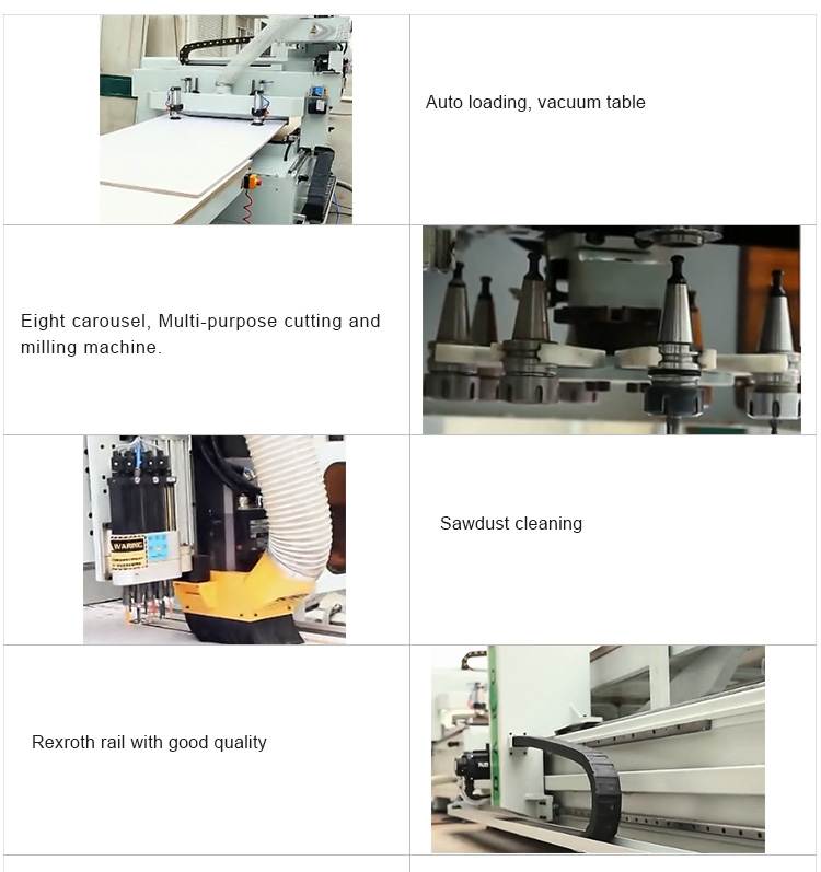 KIN2412ALU&APC  Automatic Label Loading ATC Woodworking CNC Router Machine For Sale