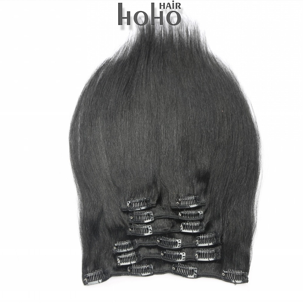 40 Inch Hair Extensions Clip In Double Drawn Real Brazilian Hair