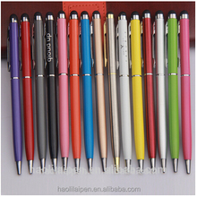 New design customized Logo metal ball pen promotional touch stylus ball-point pens for office gifts