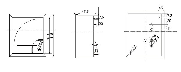 rectangle analog panel volt meter gauge voltmeter hn-42c3 dcv