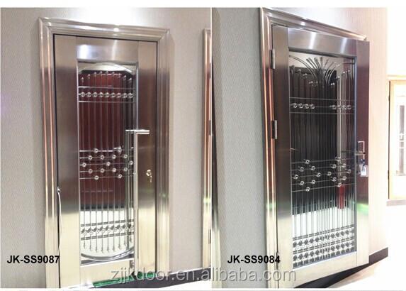 Jk Ss9041 Entrance Stainless Steel Double Swing Glass