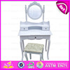 wholesale fancy wooden modern dressing table with mirror W08H023