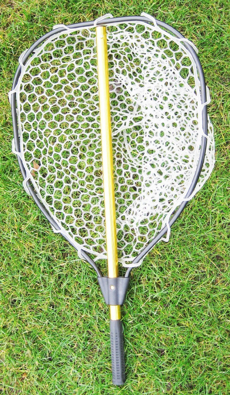"""Generic YanHongUS150713-11 8yh0816yh l length:47"""") with rubber net (Hoop:20""""x Collapsable Aluminum Collapsab with rubber net ng net wi landing net Aluminum (Hoop:20""""x16"""";Total length:47"""")"""
