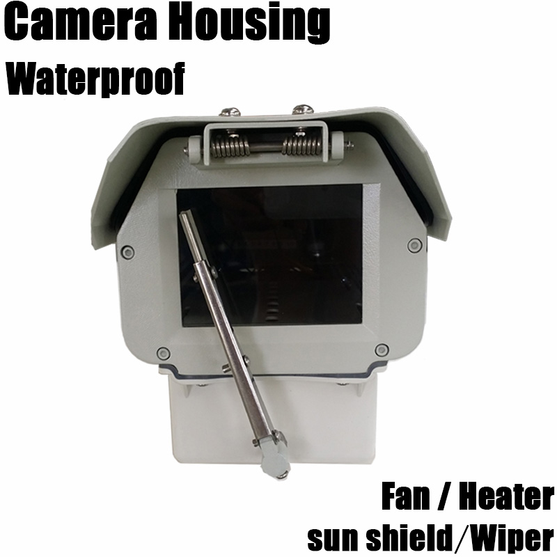 bullet proof shield outdoor aluminium alloy metal waterproof bullet monitoring cctv security camera shield sun shield with wiper