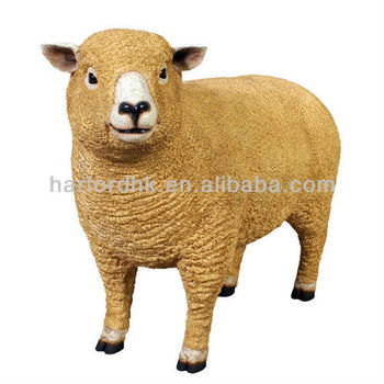 giant life size sheep fiberglass resin garden animals ornament - Garden Animals