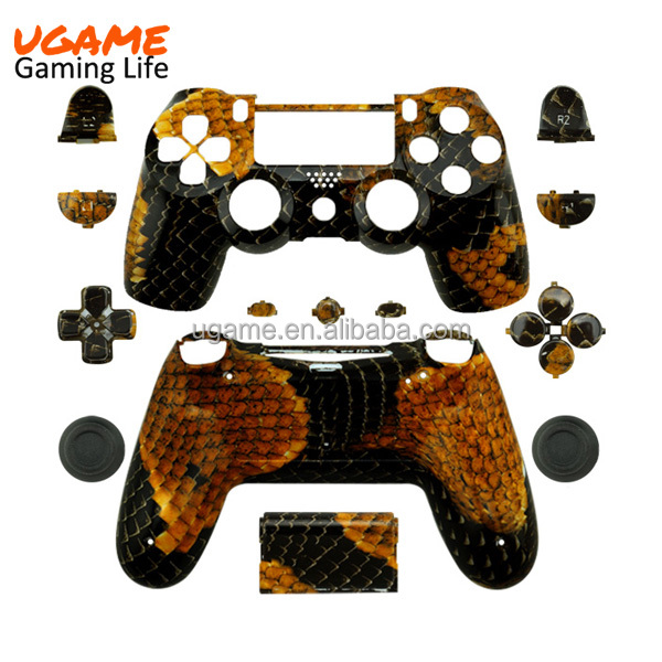 Hydro dipped New Design for Dualshock 4 Shell Gold Dragon