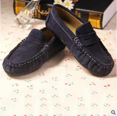 2016 Spring autumn kids Loafers for girls boys Nubuck Leather shoes Boys girls Casual Shoes children Slip on Breathable Sneakers
