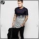 Fashion men clothing Dip die curve bottom buyers in europe t-shirt 100% cotton jersey 30/1