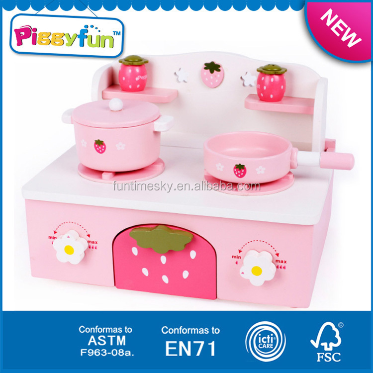 2017 hot sale high quality new wooden kitchen toy set kids for Kids kitchen set sale
