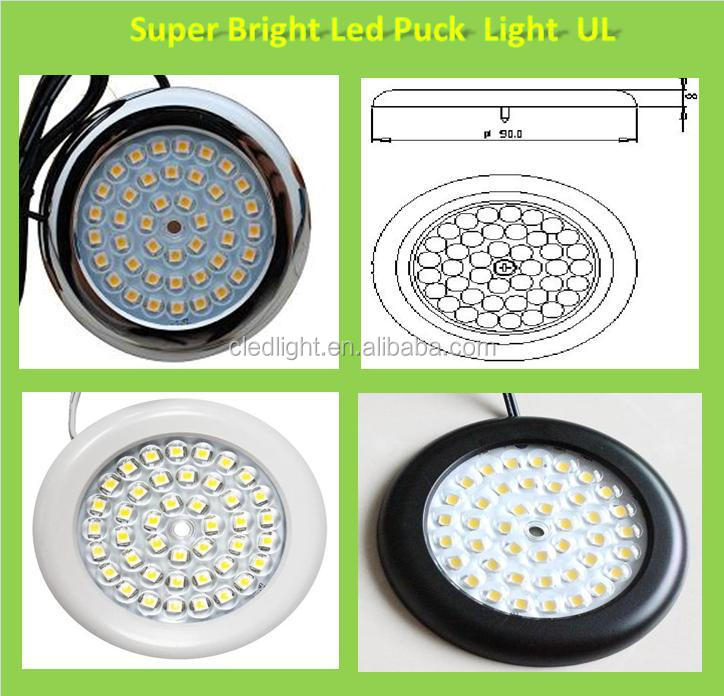 Slim(90mmx8mm) Dimmable Led Puck Light Led Cabinet Light Ul Touch ...
