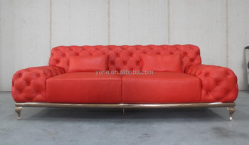 Awe Inspiring Italian Top Grain Nubuck Red Leather Button Sofa With Stainless Steel Frame Buy Chesterfield Sofa Top Grain Leather Sofa Luxury Sofa Product On Bralicious Painted Fabric Chair Ideas Braliciousco