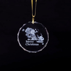 Round design personalized ornament crystal