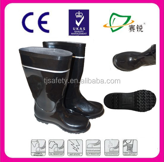 HOT sale PVC safety rain boots /protective safety footwear