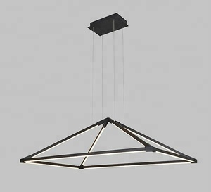 2018 new black color pyramid shape pendant lights for hotel
