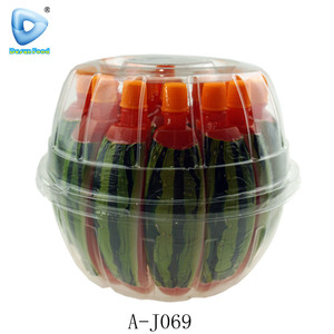 Watermelon shaped fruit pudding jelly drink