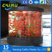 Top quality custom large cylindrical aquarium acrylic