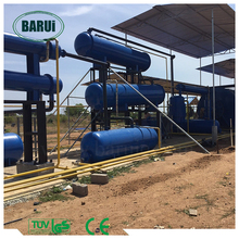solid waste recycling machine plastic to oil pyrolysis plant with ISO/CE