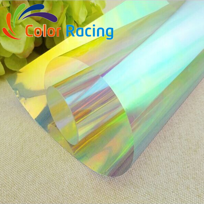 1360mm Self Adhesive Dichroic Window Film Solar Control Colorful film for Glass Window and Acrylic Panels