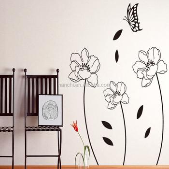 Slip Classique Calme Lotus Noir Stickers Muraux Pour Canapé Chambre