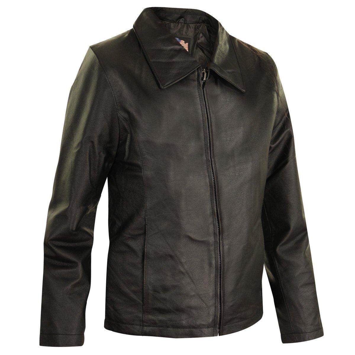 USA Leather Womens Black Leather Jacket - Large