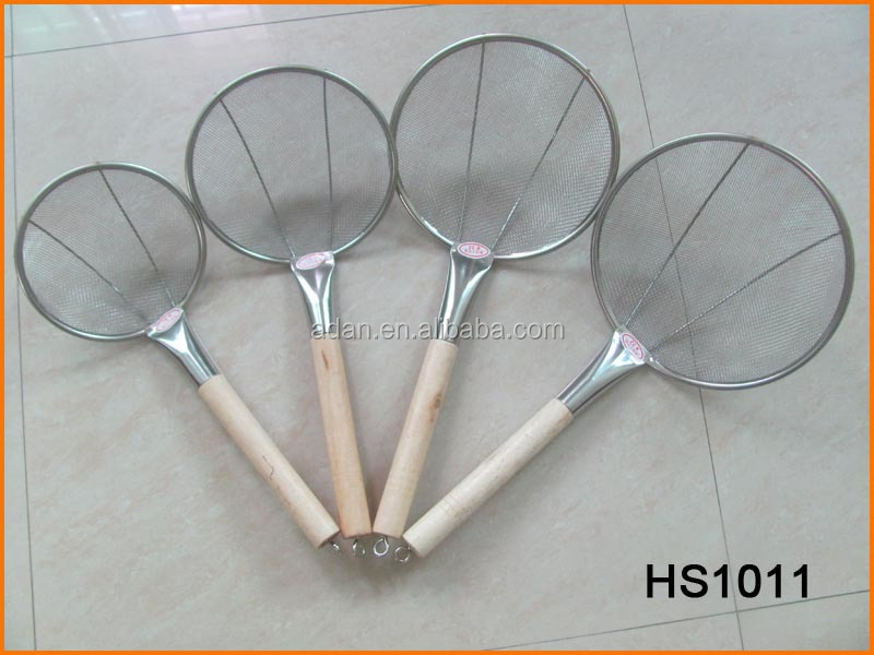 HS1011 Wood Handle Mesh Strainer 16cm~22cm