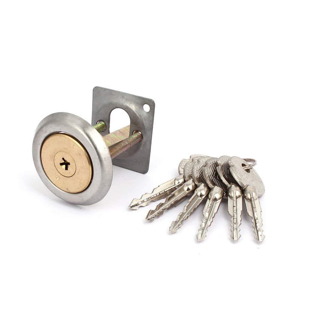 uxcell Home Office Door Metal Anti-Theft Security Entrance Deadbolt Cylinder Lock w Keys