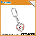 2017 Norway new tourist souvenirs items custom metal heart shape keychain keyring