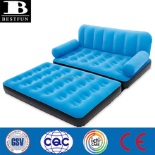 Inflatable air couch relaxing folding chaise lounge sofa double spare couch bed