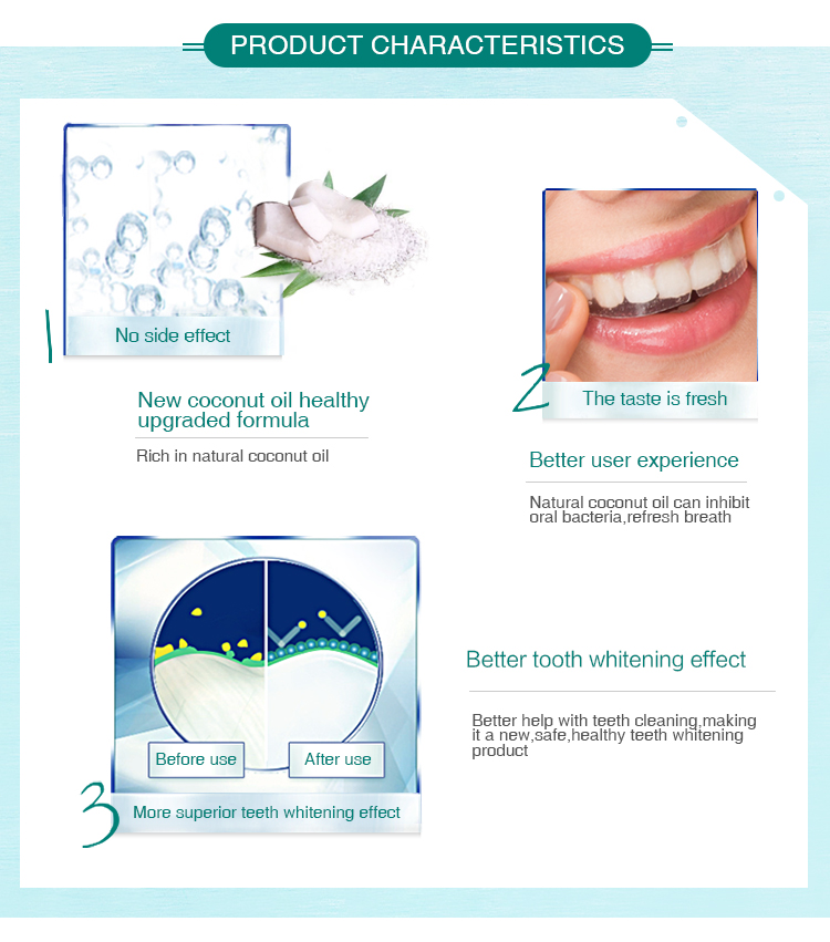 7 giorni veloce sbiancamento dei denti 3d effetti whitestrips bianco professionale