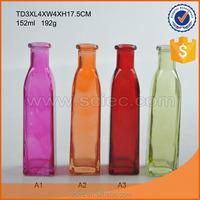 colored essential oil or olive oil glass bottle dispenser