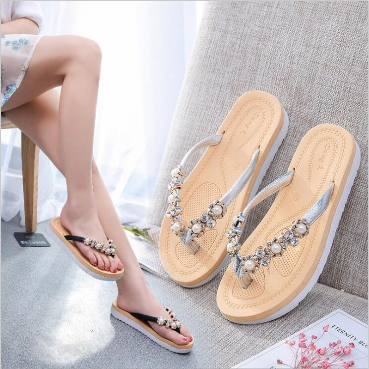 96d4dbfa6bbe3 Fashion Customize Ladies Summer Sandals Popular Wedding Flip Flops Girls  Outdoor Slippers