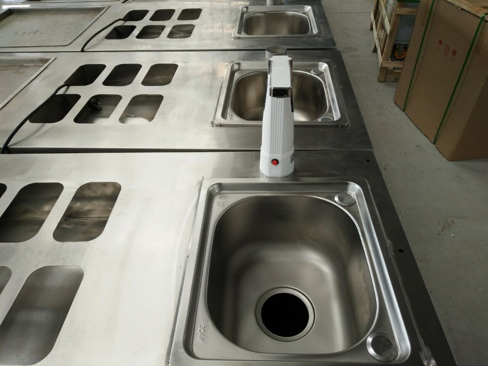 HTB1vv2iSFzqK1RjSZFCq6zbxVXa9 - 2019 New style Single Round Pan With sink and refrigerator  business fried  ice cream rolls machine