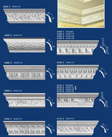 pure natural white gypsum cornices ceiling