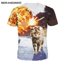 High-tech custom animal print 3d t shirts