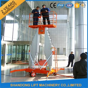 Aerial window cleaning suspended platform with CE