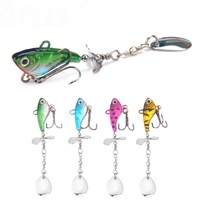 2 Inch 0.4 oz Fishing Hard Spinner Baits Lures kit Metal Spinnerbait Blade Jig Lure Mix Colors Buzzbait Swimbait Bass Trout