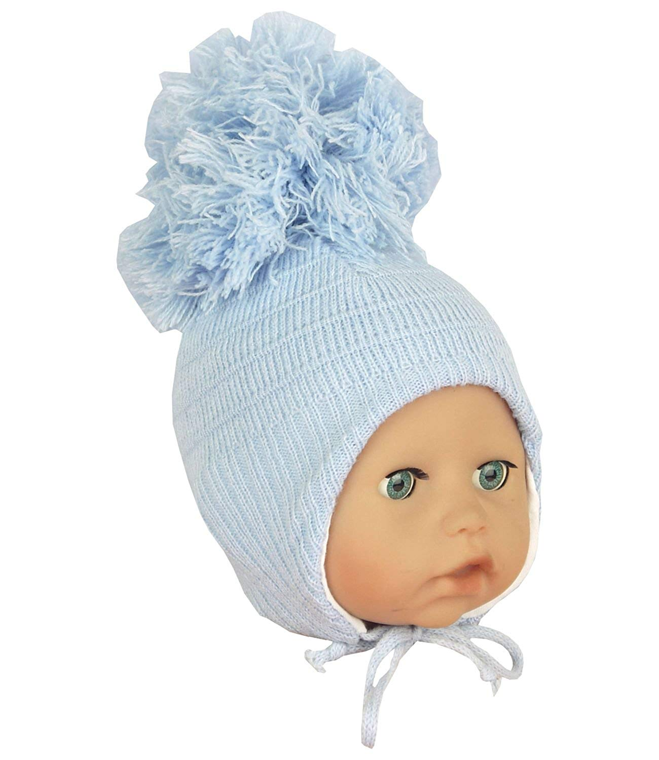 BabyPrem Baby Hat Waffle Knit Trapper Fleece Lining Winter Clothes Boy Girl