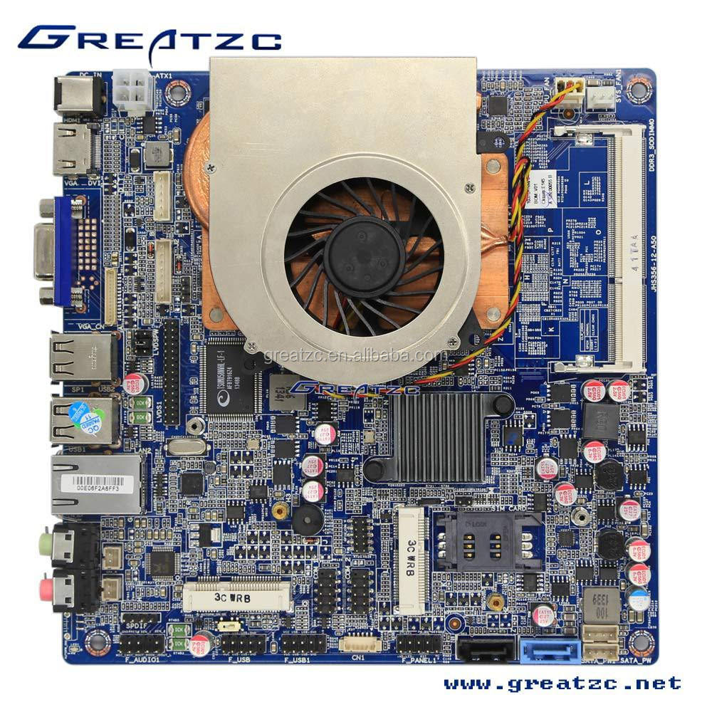 Fan Zc-ion4-4200 Mini Itx Motherboard With Intel I5 Dual Core Cpu Nvidia  Graphics Card Lvds Mini Motherboard - Buy Fan I5 Mini Itx Motherboard,Intel